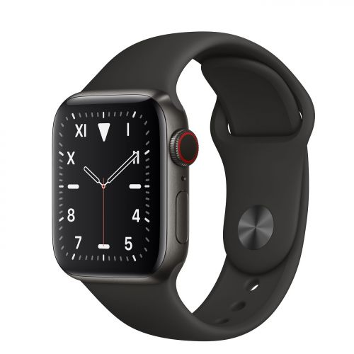 Apple Watch Space Black Titanium 40mm with Sport Band 2019