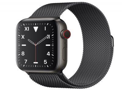 Apple Watch Space Black Titanium 44mm with Milanese Loop